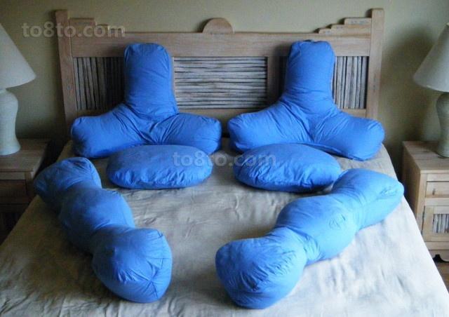 70㎡小户型蓝色复古的卧室装修效果