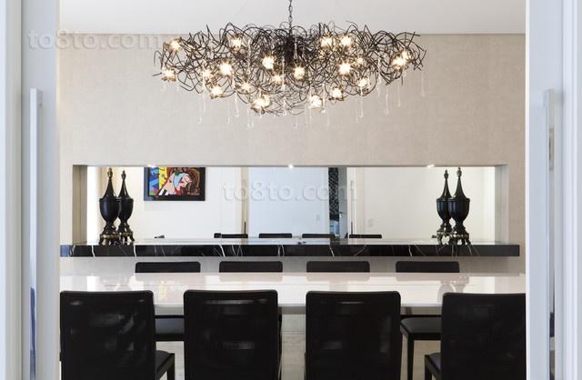 二居室现代风格餐厅装修效果图大全2014图片