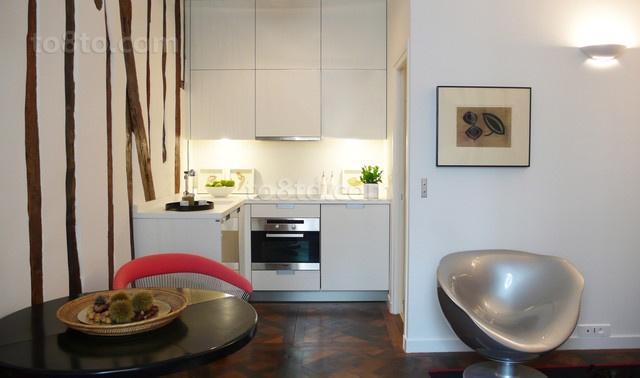 40平米小户型简约风格厨房橱柜装修效果图大全2014图片