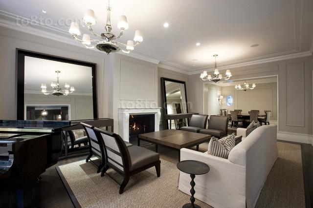 2014最新别墅现代风格客厅装修设计效果图大全