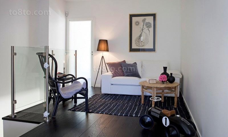 简约现代的双层别墅客厅装修效果图大全2013图片