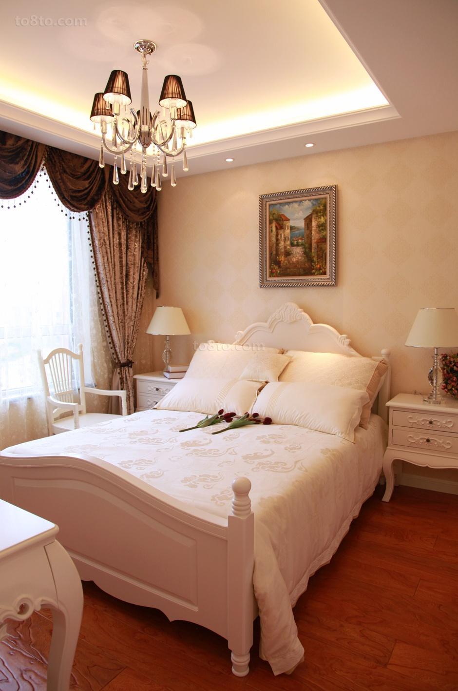 2018面积85平欧式二居卧室装修设计效果图片欣赏