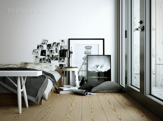 简约现代的双层别墅卧室装修效果图大全2013图片