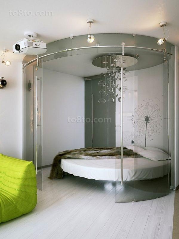 时尚动感的现代小户型卧室隔断装修效果图大全2014图片