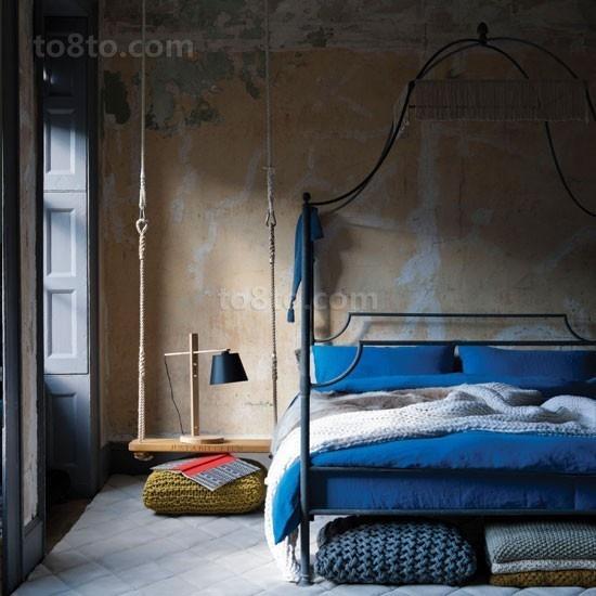 三室两厅地中海风格清新卧室装修效果图