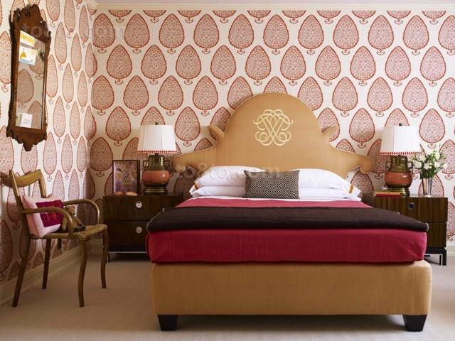 美式两室一厅卧室装修效果图大全2012图片