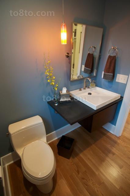 80㎡现代简约小户型厕所装修效果图大全2012