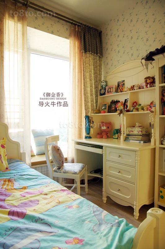 美式乡村风格儿童房装修效果图