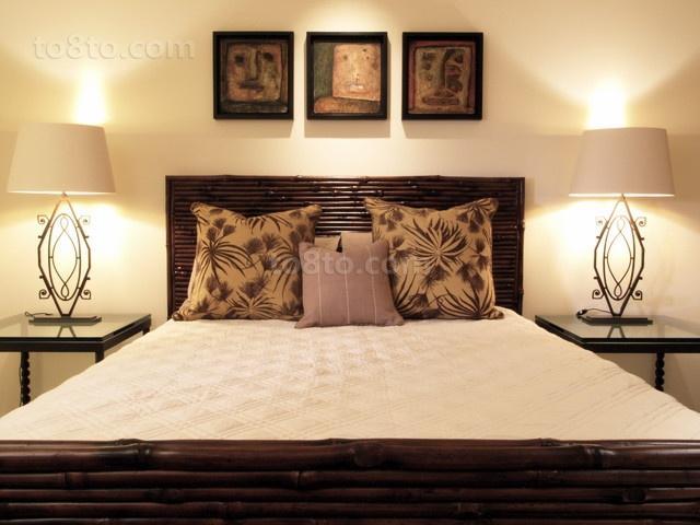 中式古韵的二居室卧室装修效果图大全2014图片