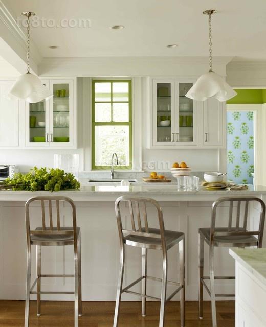 美式两室一厅厨房橱柜装修效果图大全2012图片
