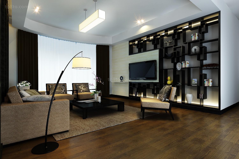 精美99平米三居客厅现代装修图片
