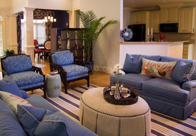 三室两厅地中海风格客厅装修效果图大全2014图片