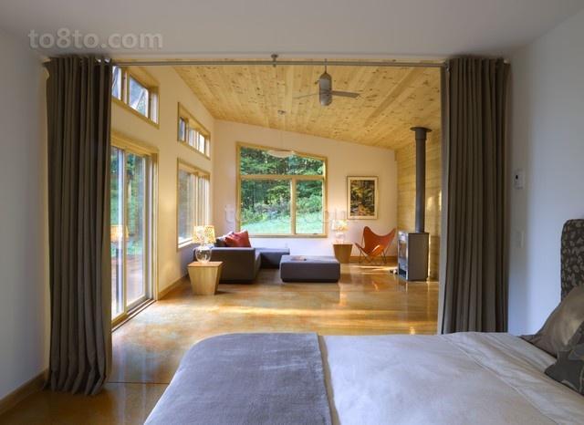 50平小户型轻松打造欧式开放式卧室效果图