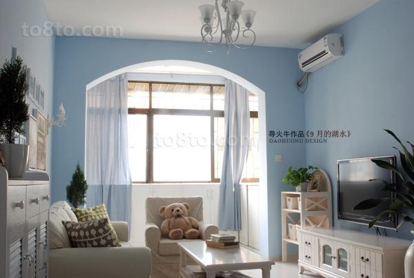 阳光里最新小户型客厅飘窗装修效果图