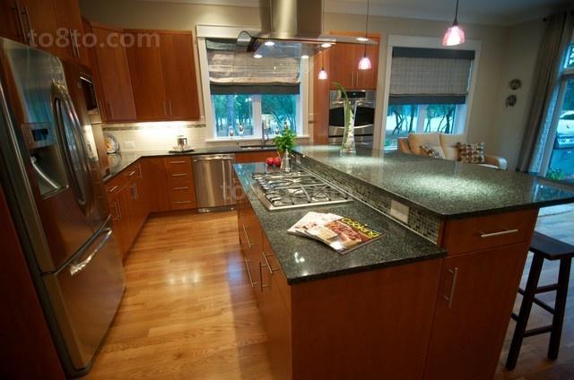 80㎡现代简约小户型厨房装修效果图大全2012