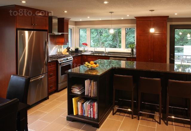 180平米复式欧式现代厨房橱柜装修效果图大全2014
