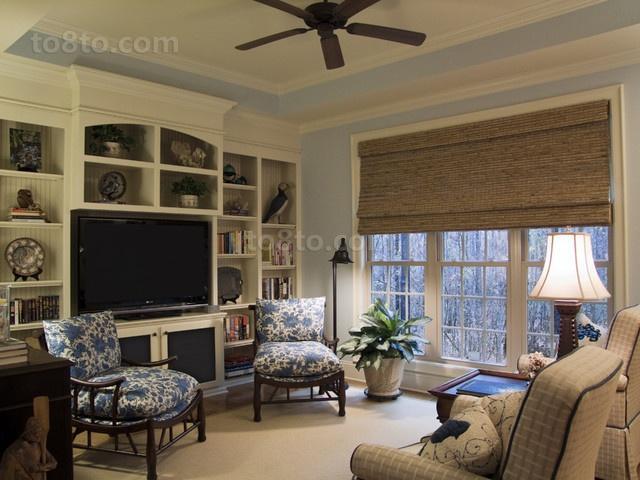 三室两厅地中海风格客厅电视背景墙效果图