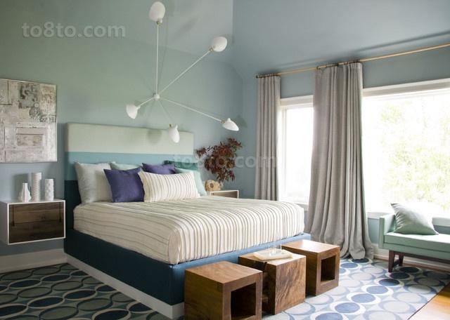 欧式小三居温馨宜人的卧室窗帘装修效果图