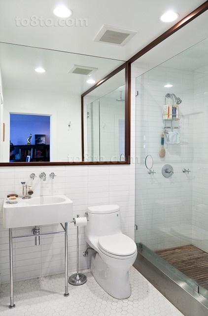 昊海君悦45平小户型家庭卫生间装修效果图