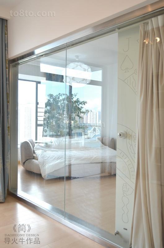 90平米小户型简约现代卧室隔断装修效果图