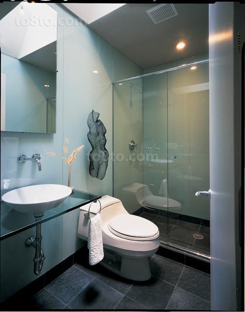 三居室地中海风格厕所装修效果图大全2014图片