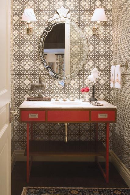 两室一厅美式田园卫生间装修效果图