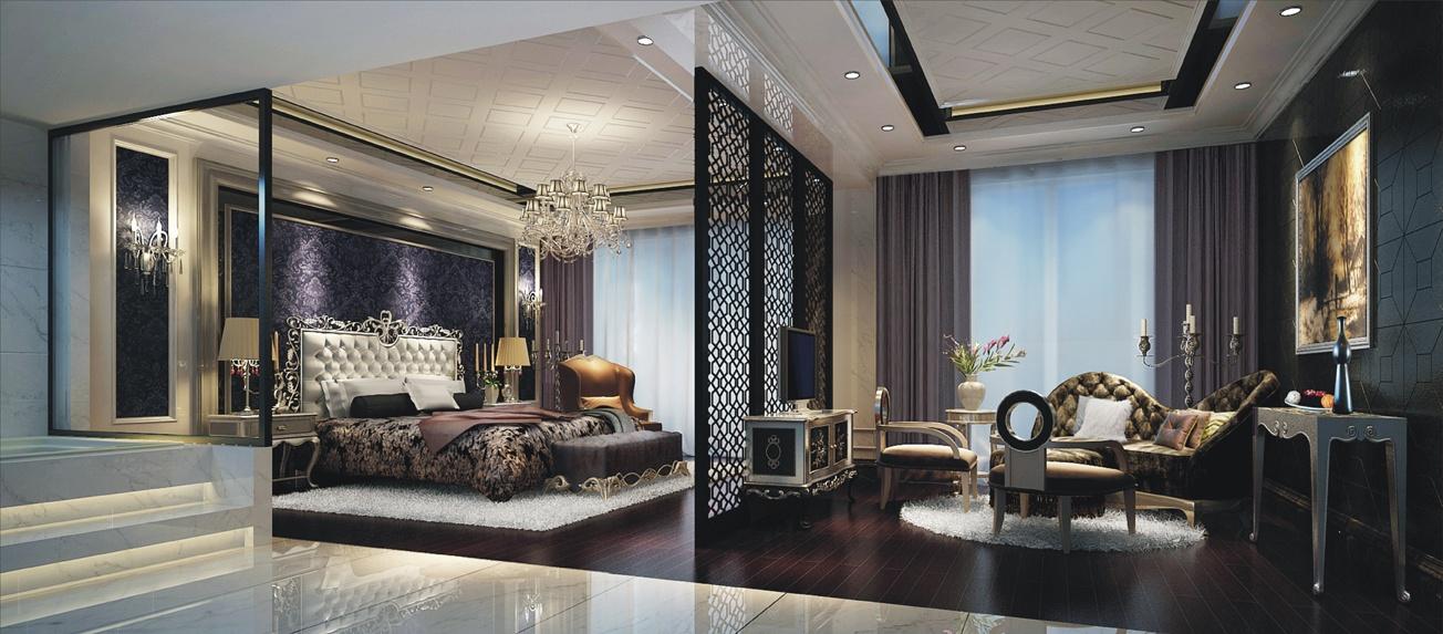 三室两厅新古典卧室隔断装修效果图