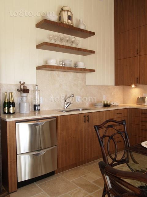 中式古韵的二居室厨房橱柜装修效果图大全2014图片