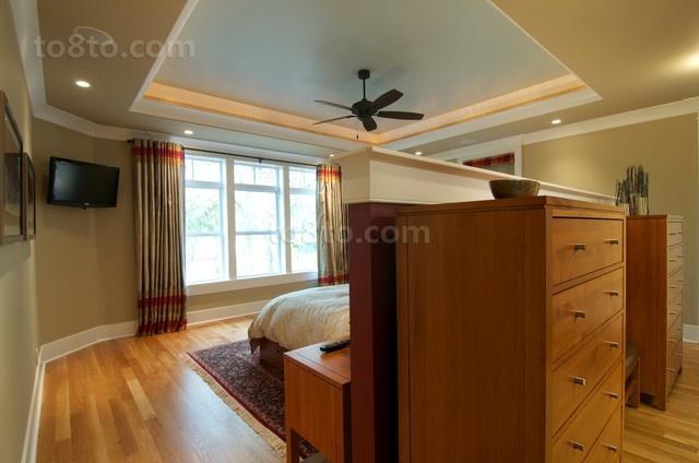 80㎡现代简约小户型卧室玄关装修效果图