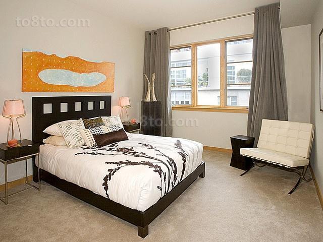 2012天琴湾现代时尚的小户型卧室装修效果图
