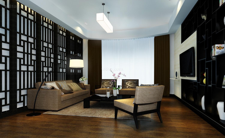 精美面积95平现代三居客厅装修设计效果图