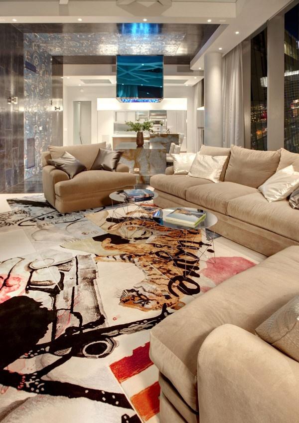现代公寓休闲区装饰图