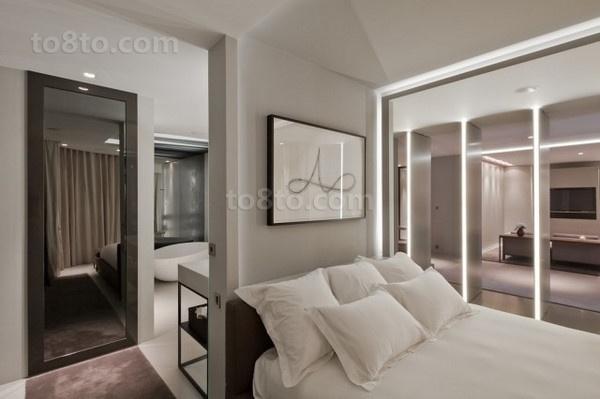 现代灰色调小户型卧室装修效果图大全2012