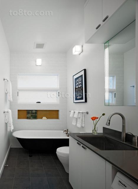30万打造宜家现代风格三居卫生间装修效果图大全2014图片