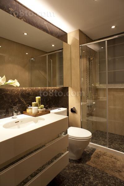 3室2厅卫生间瓷砖装修效果图大全2013图片