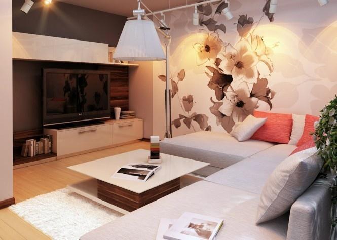 80后白领简欧三居室客厅电视背景墙装修效果图