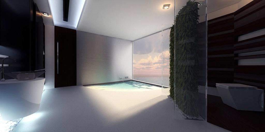 海滨别墅现代简约时尚的卫生间装修效果图