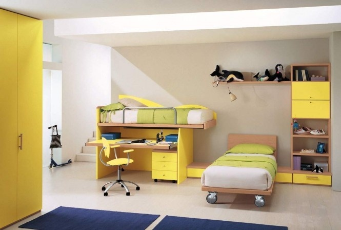 18万打造浪漫清新简约风格复式儿童房装修效果图大全2014图片