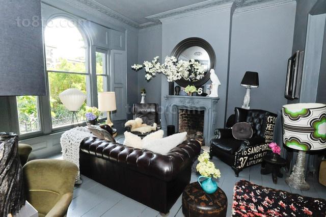 光彩夺目的维多利亚风格别墅客厅沙发效果图