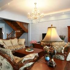 精选复式客厅美式实景图片