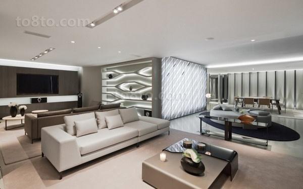 现代灰色调小户型客厅装修效果图大全2012