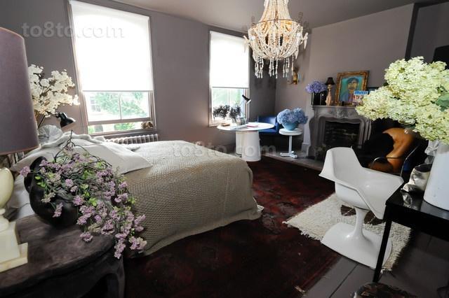 光彩夺目的维多利亚风格别墅主卧室效果图