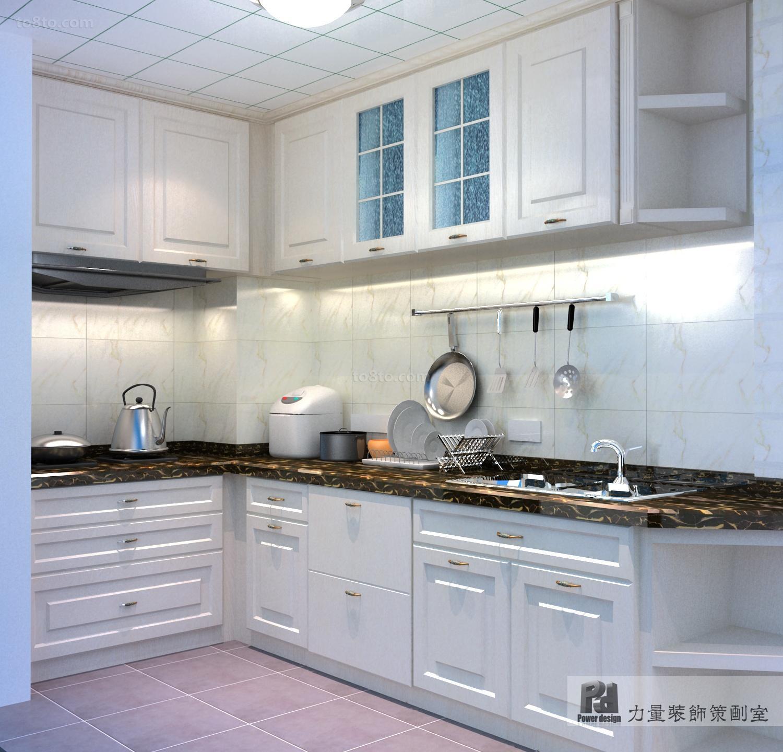 简欧风格复式楼厨房橱柜装修效果图