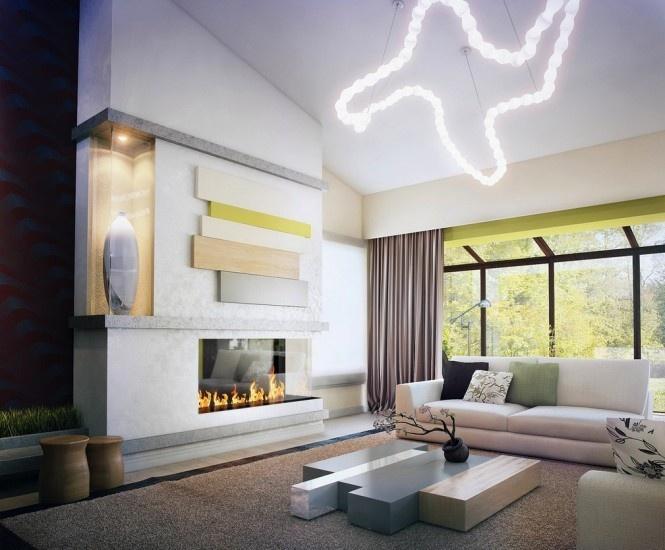 现代简约风格别墅客厅装修效果图欣赏