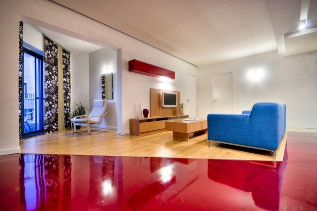 25万打造宜家清新现代风格客厅电视背景墙装修效果图大全2012图片
