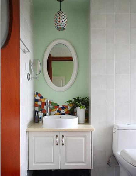 浪漫的田园风格两室一厅卫生间瓷砖装修效果图