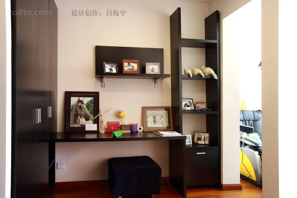 精美面积110平复式书房美式效果图片
