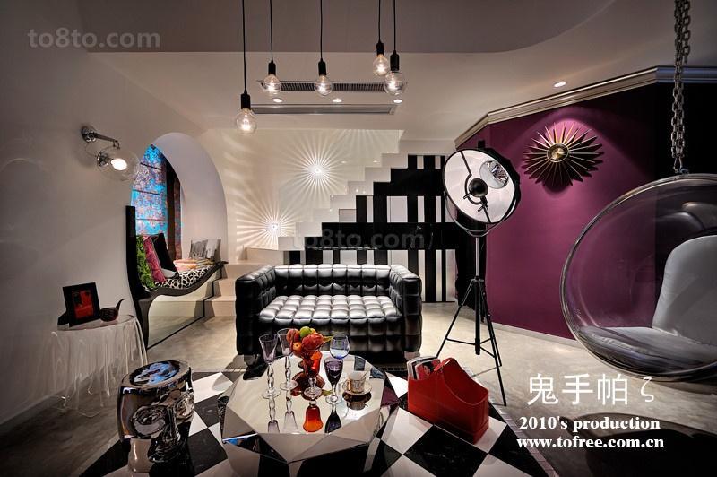 热门面积124平复式客厅混搭设计效果图