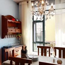 精选110平米美式复式餐厅装修图片