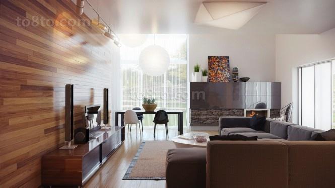 17万打造浪漫现代风格二居客厅背景墙装修效果图大全2014图片